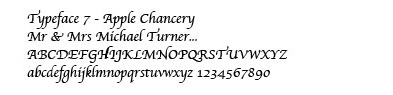 apple chancery typeface