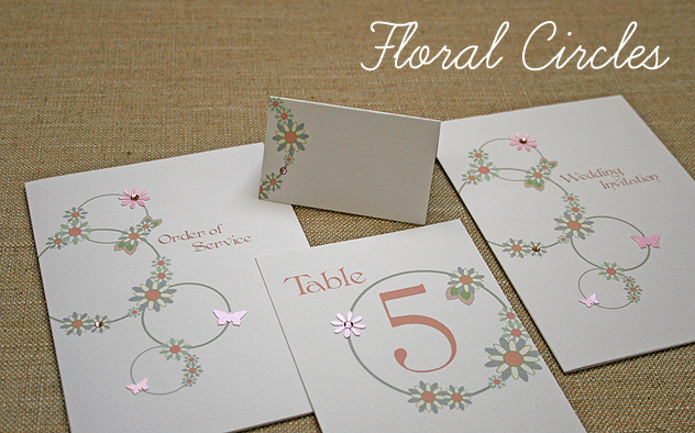 floral circles wedding stationery design spring summer wedding