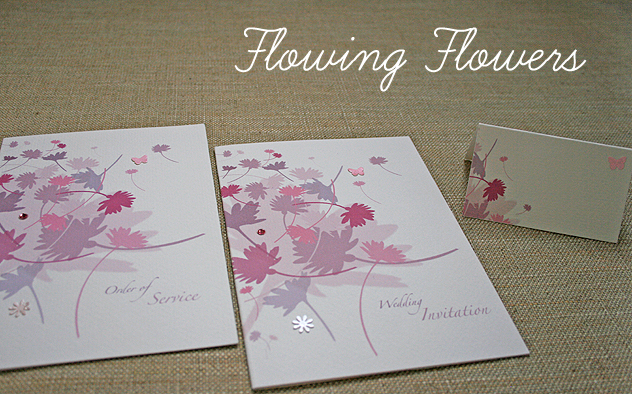 wedding stationery flowing flowers range colourful floral design