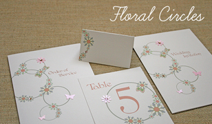 Floral Circles Wedding Invitations