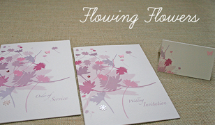 Flowing Flowers Wedding Invitations