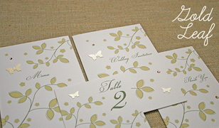 Golf Leaf Wedding Invitations