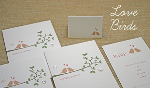 Lovebirds Wedding Invitations