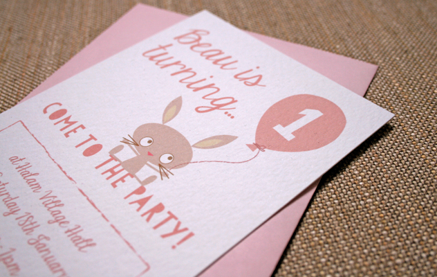 Beau's first birthday party invitations