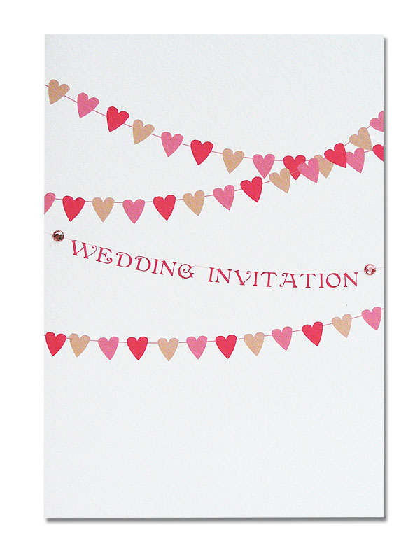 heart bunting wedding design