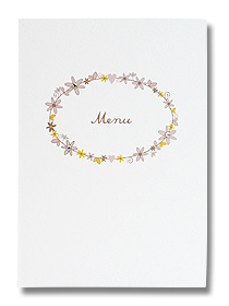 daisy chain design wedding menu