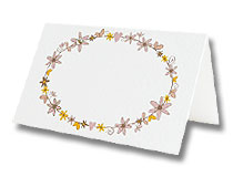 daisy chain place cards for wedding