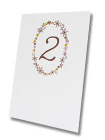 daisy chain pretty flower table card wedding