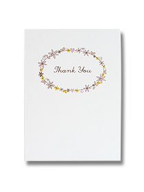 daisy chain wedding thank you card