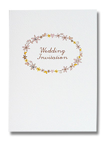 daisy chain wedding invitations pretty floral