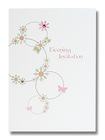 floral circles evening invitations