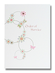 floral circles wedding statioenry order of service