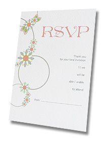 rsvp cards wedding floral circles