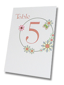floral circles pastel pretty wedding stationery table number cards