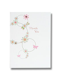 thank you cards wedding stationery floral circles