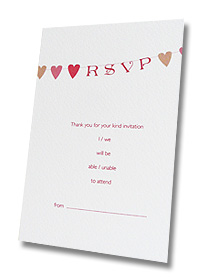 heart bunting rsvp cards wedding summer