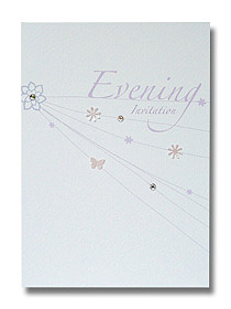 confetti veil evening invitation delicate pastel design