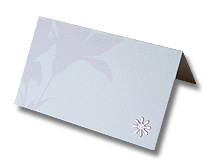 pink lily place card classical and elegant design