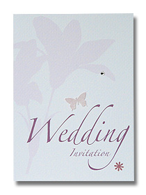pink lily wedding invitation classical and elegant design