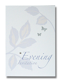 silver leaf evening invitation soft contemporary print
