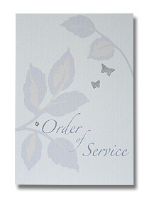 silver leaf order of service soft contemporary print