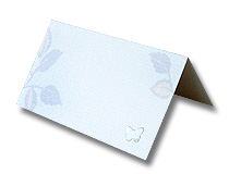 silver leaf place card soft contemporary print