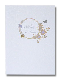 gold floral ring wedding invitation vintage antique style wedding stationery