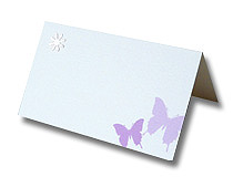 butterfly and button place card purple butterflies